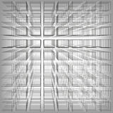 Gray color abstract infinity background, 3d structure with rectangles forming illusion of depth and perspective, vector. Illustration Vector Illustration