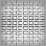 Gray color abstract infinity background, 3d structure with rectangles forming illusion of depth and perspective, vector. Illustration stock illustration