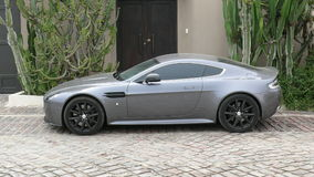 Gray color Aston Martin Vantage S in Lima Stock Images