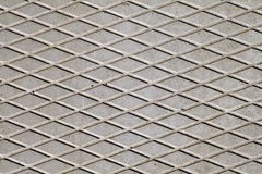 Gray color cement floor with rhombus pattern. Royalty Free Stock Images