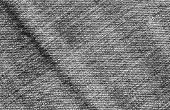 Gray color denim cloth pattern. Royalty Free Stock Photo