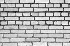 Gray color grungy brick wall pattern. Royalty Free Stock Images