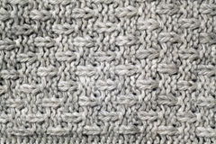 Gray color knitted pattern. Abstract background and texture Royalty Free Stock Photo