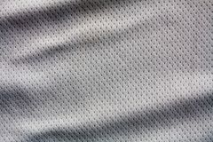 Color sports clothing fabric jersey. Gray color sports clothing fabric jersey Royalty Free Stock Photos