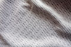 Sports clothing fabric jersey. Gray color sports clothing fabric jersey Stock Photo