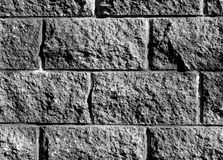 Gray color stylized brick wall pattern. Royalty Free Stock Images