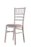 Gray Color Wooden Chair Isolated sur le fond blanc avec Gray Pillow photos libres de droits