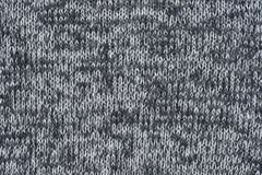 Gray color wool knitted fabric background texture. Clodeup Stock Images