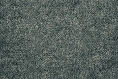 Gray color wool knitted fabric background texture. Clodeup Royalty Free Stock Image