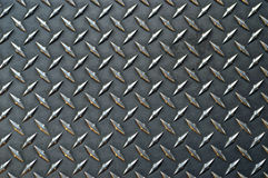 Gray colored diamond plate bac Stock Image