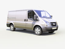 Gray commercial delivery van Royalty Free Stock Photography