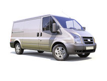 Gray commercial delivery van Royalty Free Stock Image
