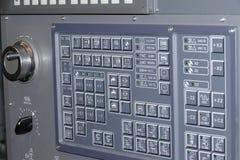 CNC control panel. Gray compact CNC control panel royalty free stock image