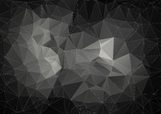 Gray composition with triangles geometric shapes Stock Image