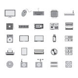 Gray computer device icon design Royalty Free Stock Photo