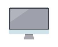 Gray Computer Monitor dans l'appartement illustration de vecteur