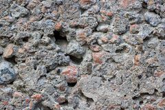 Gray concrete background with stones. Texture or background. royalty free stock photos