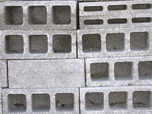 Gray concrete blocks. Concrete blocks wall - monochrome texture Stock Images