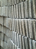 Gray concrete brick block Stock Image