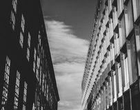 Gray Concrete Building Above Sky royalty free stock image