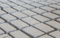 Gray concrete construction block Stock Photos