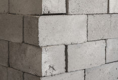 Gray concrete construction block Royalty Free Stock Photos