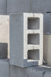 Gray concrete construction block Royalty Free Stock Photography
