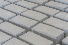 Gray concrete construction block Stock Image