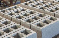 Gray concrete construction block Royalty Free Stock Image
