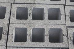 Gray concrete construction block Stock Photos