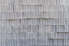 Gray concrete construction block wall Stock Photography