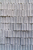 Gray concrete construction block wall Stock Images