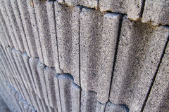 Gray concrete construction block wall Royalty Free Stock Photos
