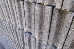 Gray concrete construction block wall Royalty Free Stock Photos