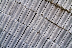 Gray concrete construction block wall Royalty Free Stock Photography