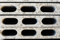 Gray concrete construction blocks Royalty Free Stock Photography