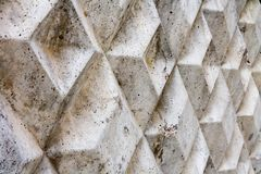 Gray concrete fence in autumn day Stock Image