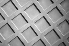 Gray concrete fence wall fragment Royalty Free Stock Images