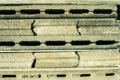 Gray concrete figured concrete plates Royalty Free Stock Photography