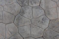 Gray concrete floor corridor. Outdoor Royalty Free Stock Photo