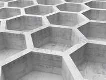 Gray concrete honeycomb structure Stock Photography