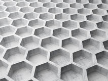 Gray concrete honeycomb structure Royalty Free Stock Photo
