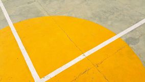 Gray Concrete Pavement With Yellow and White Paint royalty free stock photos