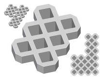 Gray concrete pavers. On a white background royalty free illustration