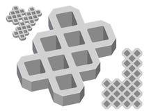 Gray concrete pavers Stock Images