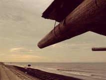 Gray Concrete Road Near Black Sea stock photo