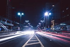 Gray Concrete Road Near Buildings Royalty Free Stock Photo