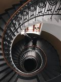 Gray Concrete Spiral Stairs stock image