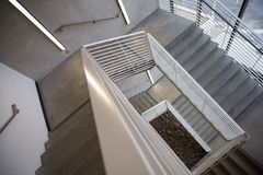 Gray Concrete Stair Case Royalty Free Stock Photography
