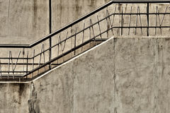 Gray Concrete Stairway. With metal railing Royalty Free Stock Photography